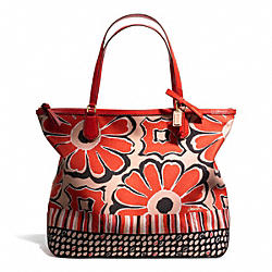 COACH F25125 - POPPY FLORAL SCARF PRINT TOTE ONE-COLOR