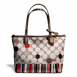 COACH F25126 - POPPY WATERCOLOR DOT SMALL TOTE ONE-COLOR