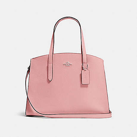 COACH F25137 CHARLIE CARRYALL PEONY/SILVER