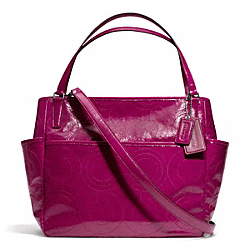 COACH F25141 Stitched Patent Leather Baby Bag Tote