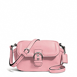 COACH F25150 - CAMPBELL LEATHER CAMERA BAG SILVER/PINK TULLE