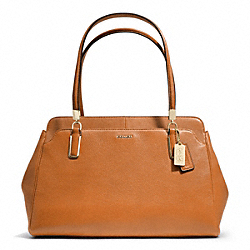 COACH F25161 - MADISON LEATHER KIMBERLY CARRYALL LIGHT GOLD/ORANGE SPICE