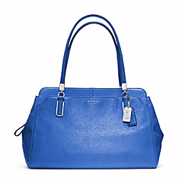 COACH F25161 - MADISON LEATHER KIMBERLY CARRYALL SILVER/COBALT
