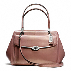 COACH F25164 Madison Madeline East/west Satchel In Metallic Leather