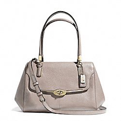 COACH MADISON SMALL LEATHER MADELINE EAST/WEST SATCHEL - LIGHT GOLD/GREY BIRCH - F25169
