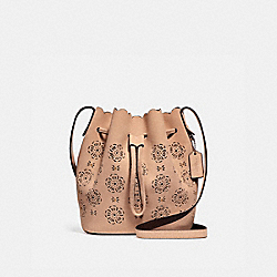 COACH F25193 Bucket Bag 18 With Cut Out Tea Rose BEECHWOOD/LIGHT GOLD