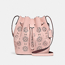 COACH F25193 - BUCKET BAG 18 WITH CUT OUT TEA ROSE PEONY/SILVER