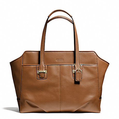 COACH f25205 TAYLOR LEATHER ALEXIS CARRYALL BRASS/SADDLE