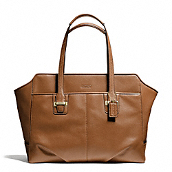 COACH F25205 - TAYLOR LEATHER ALEXIS CARRYALL BRASS/SADDLE