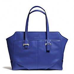COACH F25205 - TAYLOR LEATHER ALEXIS CARRYALL SILVER/COBALT