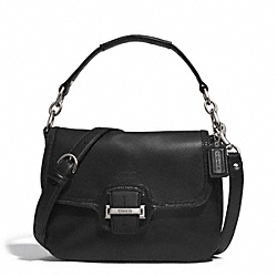 COACH F25206 - TAYLOR LEATHER FLAP CROSSBODY SILVER/BLACK