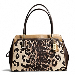 COACH F25207 Madison Ocelot Print Kimberly Carryall LIGHT GOLD/KHAKI