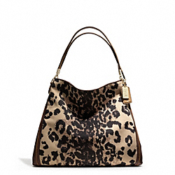 COACH F25209 Madison Phoebe Shoulder Bag In Ocelot Print Fabric