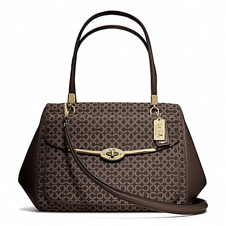 COACH f25212 MADISON MADELINE EAST/WEST SATCHEL IN OP ART NEEDLEPOINT FABRIC