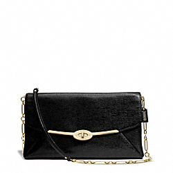 MADISON TEXTURED LEATHER CLUTCH - f25240 - 31809