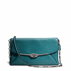 COACH F25240 Madison Clutch In Textured Leather