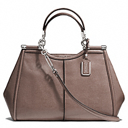 COACH F25245 - MADISON TEXTURED LEATHER  CAROLINE SATCHEL  SILVER/ASH