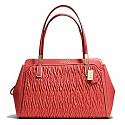 COACH F25261 Madison Gathered Twist Leather Kimberly Carryall
