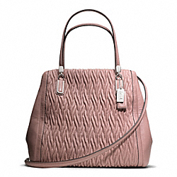 COACH F25262 - MADISON GATHERED TWIST LEATHER NORTH/SOUTH SATCHEL ONE-COLOR