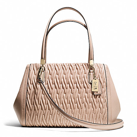 COACH F25265 MADISON GATHERED TWIST LEATHER MADELINE EAST/WEST SATCHEL ONE-COLOR