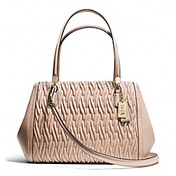 COACH F25265 - MADISON GATHERED TWIST LEATHER MADELINE EAST/WEST SATCHEL ONE-COLOR