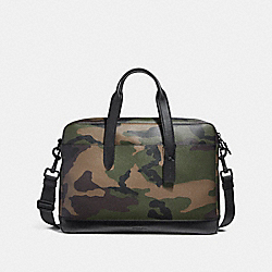COACH F25267 - HAMILTON BAG WITH CAMO PRINT DARK GREEN CAMO/BLACK ANTIQUE NICKEL