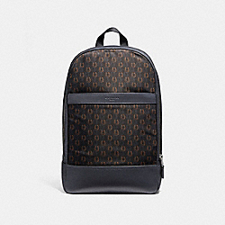 CHARLES SLIM BACKPACK WITH HORSESHOE PRINT - f25268 - NIMSB