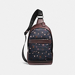 COACH F25269 Charles Pack With Sky Stars Print NIMS7