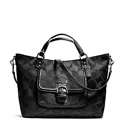 COACH F25290 Campbell Signature Izzy Fashion Satchel