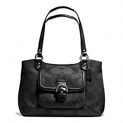 COACH F25294 - CAMPBELL SIGNATURE BELLE CARRYALL SILVER/BLACK