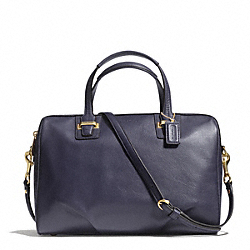 TAYLOR LEATHER SATCHEL - f25296 - BRASS/MIDNIGHT