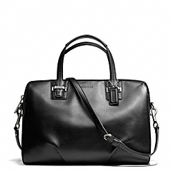 TAYLOR LEATHER SATCHEL - f25296 - SILVER/BLACK