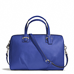 COACH F25296 - TAYLOR LEATHER SATCHEL SILVER/COBALT