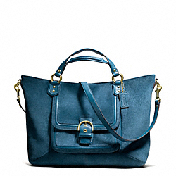 COACH F25300 - CAMPBELL SUEDE IZZY FASHION SATCHEL ONE-COLOR