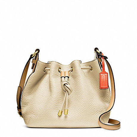 PEBBLED LEATHER SOFT DRAWSTRING CROSSBODY - COACH F25305 - ONE-COLOR
