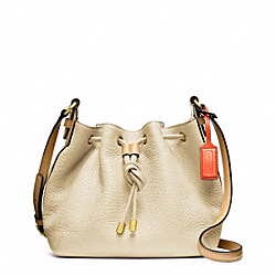 COACH F25305 Pebbled Leather Soft Drawstring Crossbody