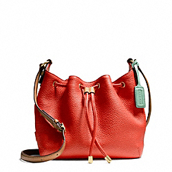 COACH F25305 Soft Drawstring Crossbody In Pebbled Leather