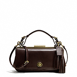 COACH F25318 Legacy Polished Retro Pinnacle Frame Flap
