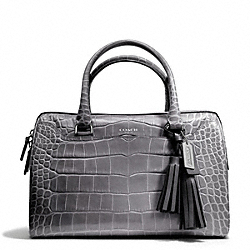 COACH F25324 - EMBOSSED CROC HALEY SATCHEL ONE-COLOR