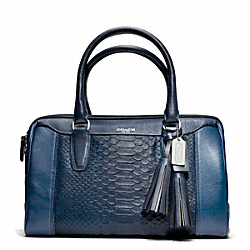 COACH F25334 Embossed Python Haley Satchel