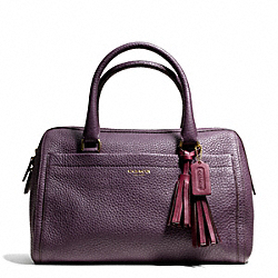 COACH F25347 Haley Satchel In Pebble Leather  BRASS/BLACK VIOLET
