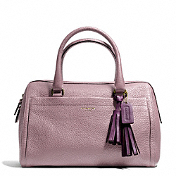 COACH F25347 Pebbled Leather Haley Satchel BRASS/MAUVE