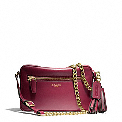 COACH F25362 - LEATHER FLIGHT BAG BRASS/DEEP PORT