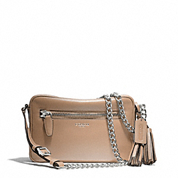 COACH F25362 - LEATHER FLIGHT BAG SILVER/LIGHT KHAKI
