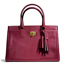 COACH F25365 - LEATHER LARGE CHELSEA CARRYALL BRASS/DEEP PORT