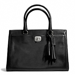 COACH F25365 Leather Large Chelsea Carryall SILVER/BLACK