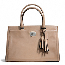 COACH F25365 Leather Large Chelsea Carryall SILVER/LIGHT KHAKI