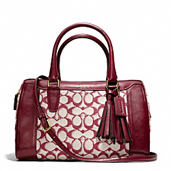 COACH F25378 - NEEDLEPOINT SIGNATURE HALEY SATCHEL WITH STRAP BRASS/BORDEAUX