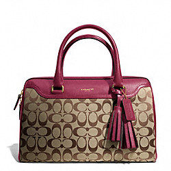 COACH F25383 Signature Haley Satchel