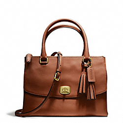 COACH F25390 - LEATHER HARPER TRIPLE ZIP SATCHEL ONE-COLOR